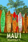 Mau'i  Hawai'i - Surfboard Fence
