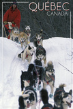 Quebec  Canada - Dogsled Scene
