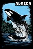 Alaska - Orca - Scratchboard