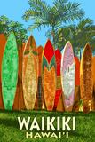Waikiki  Hawai'i - Surfboard Fence