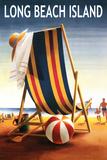 Long Beach Island - Beach Chair and Ball