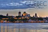 Quebec  Canada - Skyline at Sunset