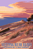 Sleeping Bear Dunes National Lakeshore - Dunes Sunset and Bear