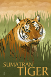 Sumatran Tiger - Lithograph Series