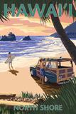 North Shore  Hawai'i - Woody on Beach
