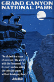 Grand Canyon National Park  Arizona - Night Scene with Muir Quote