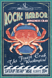 Roche Harbor  WA - Dungeness Crab Vintage Sign