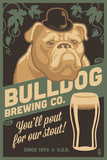 Bulldog - Retro Stout Beer Ad