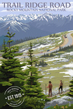 Trail Ridge Road - Rocky Mountain National Park - Rubber Stamp
