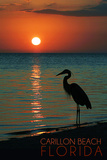 Carillon Beach  Florida - Heron and Sunset