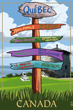 Quebec  Canada - Signpost Destinations