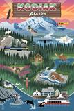 Kodiak  Alaska - Retro Scenes