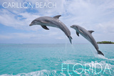 Carillon Beach  Florida - Jumping Dolphins