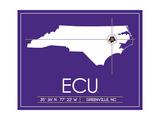 East Carolina University State Map