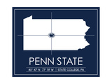 Penn State University State Map