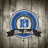 Duke Blue Devils Logo on Wood