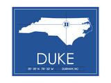 Duke University State Map