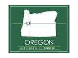 University of Oregon State Map
