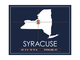 Syracuse University State Map