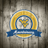West Virginia Mountaineers Logo on Wood