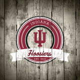 Indiana Hoosiers Logo on Wood