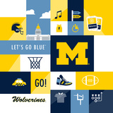 Michigan Wolverines Collage
