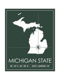 Michigan State University State Map