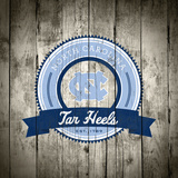 North Carolina Tar Heels Logo on Wood