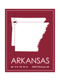 University of Arkansas State Map