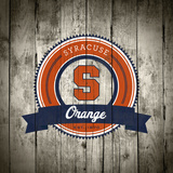 Syracuse Orange Logo on Wood