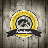 Iowa Hawkeyes Logo on Wood