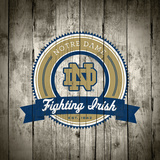 Notre Dame Fighting Irish Logo on Wood