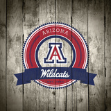 Arizona Wildcats Logo on Wood