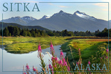 Sitka  Alaska - Mountain Wilderness and Fireweed