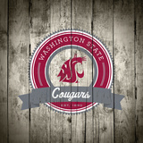 Washington State Cougars Logo on Wood
