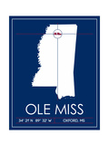 Ole Miss State Map