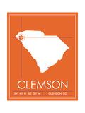 Clemson University State Map