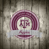 Texas A&M Aggies Logo on Wood