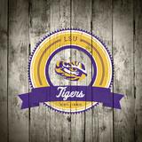 LSU Tigers Logo on Wood