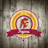 USC Trojans Logo on Wood