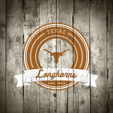 Texas Longhorns Logo on Wood