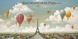 Vol en ballon au dessus de Paris Giclée par Isiah And Benjamin Lane