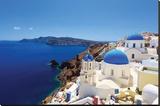 Blue Domed Santorini Churches