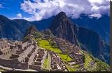 Ancient Machu Pichu Ruins Peru