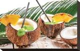 Coconut Pinacolada & Palm Leaf