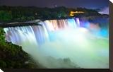 Niagara Falls Lit at Night