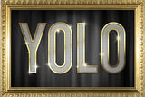 YOLO Bling Faux Frame Poster