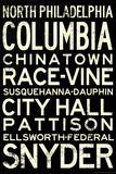 Philadelphia Broad Street Line Stations RetroMetro Poster