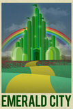Emerald City Retro Travel Poster