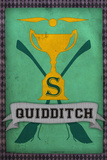 Quidditch Champions House Trophy Green Movie Poster Print